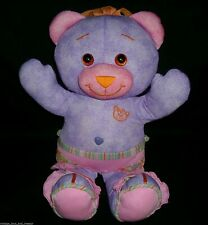 "15"" PURPLE DOODLE TEDDY BEAR DRAW COLOR MARKER STUFFED ANIMAL PLUSH TOY GIRL BIG"