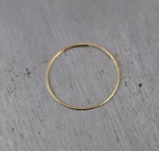 Nose Ring Earring 14k SOLID GOLD Hoop 30 gauge Tragus Helix Cartilage Thin