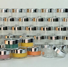100 Cosmetic Jars Empty Beauty Containers Silver Acrylic Lids 10 Gram Ml #3011