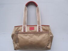 COACH Beige Nylon Leather Canvas Satchel Handbag L0682-10663