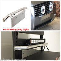 23 Bull Bar Front Bumper License Plate Mount Bracket Holder For Working Fog Lamp