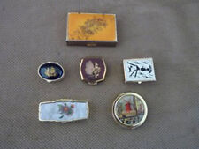 6-ENAMELED PILL BOXES