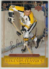 Johnny Bucyk Boston Hall of Fame SIGNED CARD AUTOGRAPHED