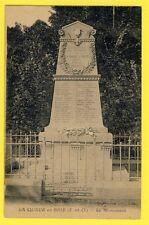 CPA MONUMENT à la MÉMOIRE des ENFANTS de LA QUEUE en BRIE MORTS pour la FRANCE