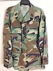 Hot Weather Woodland Camouflage Camo coat Combat Army Large Regular patches Flag