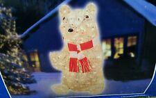 "NIB 36"" Polar Bear Peter Glittering Lighted Crystal Look Christmas Yard Decor"