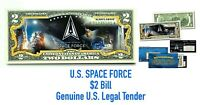 Space Force $2 Dollar Bill 🇺🇸Genuine Legal Tender🇺🇸Ready to ship🇺🇸