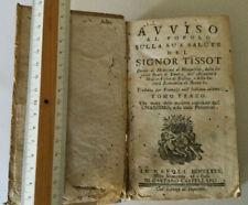 LIBRO TISSOT MEDICINA ONANISMO POLLUZIONI NAPOLI 1775