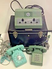 Vintage Western Electric Bell System Teletrainer w/ 2 Vintage Telephones