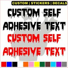 Halloween Horror Letters Stickers Removable Lettering Self Adhesive Vinyl