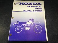 1979 Official Honda XR500 Motorcycle OEM Service Shop Manual Honda XR500 Enduro