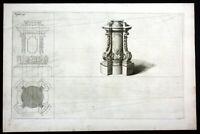 1750 Podest Grundriß plan Barock baroque Architektur architecture Kupferstich