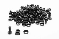 More details for 50 pack of m6 black cage nuts and bolts screws washers 19