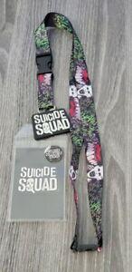Suicide Squad JOKER Detachable Neck Lanyard ID Badge Holder Logo Charm Movie DC