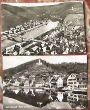 2x Postkarte Cochem, Mosel und Bad Liebenzell, beide 1955 gelaufen AK