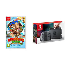 Nintendo Switch Console System 32GB Gray Joy-Con Wireless w/ Donkey Kong Bundle