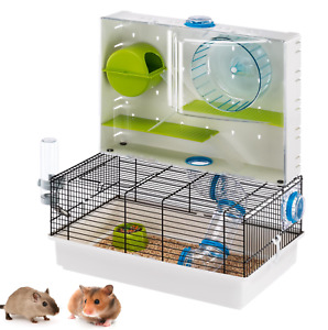 Heritage Double 2-Tier Hamster Cage Pet Gerbil Mouse Tubes Small Rodent Animal