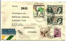 BRAZIL - 1953 REG. COVER TO GERMANY WITH 5 TOPICAL STAMPS