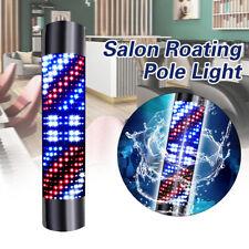 110V Barber Shop Sign Led Rotating Pole Light Red Blue White Stripe Wall Light