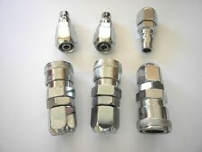 3 SET AIR HOSE CONNECTORS, NITTO STYL ,FITS 12X8MM PU HOSE