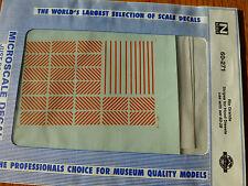Microscale Decal N  #60-271 Rio Grande Hood Diesels Striping (1984-1991) use wit