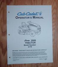 CUB CADET 2176 OWNERS OPERATORS  MANUAL 770-10284A