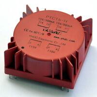 Toroidal Power Transformer, 15VA, Secondary 2x15V, Primary 115V or 230V