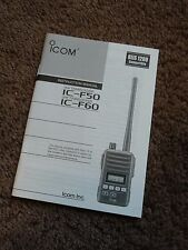Icom Ic-F50 Ic-F60 Transceiver Owners Operating Instruction Manual Operation