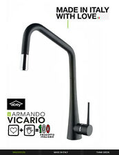 Armando Vicario TINKD BLACK Side Lever Pullout Kitchen Mixer Made in Italy Abey