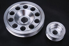 Impreza Turbo WRX STI 92-07 STI ULTRA Lightweight Crank Alternator Pulleys Alloy