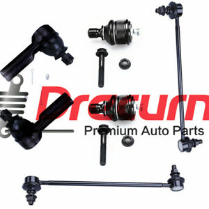 6PC Suspension Ball Joint Tie Rod End Sway Bar SET For Ford Escape 2005-2009