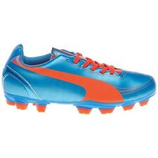 Puma Jr Youth  evoSPEED 5.2 FG Soccer Cleats, Blue, US 5      (D31-PS)