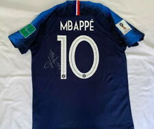 Kylian Mbappe signed France World Cup soccer football jersey PSG