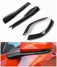 Carbon Fiber Car rearview mirror base cover trim ABS for Ford mustang 2015-2018