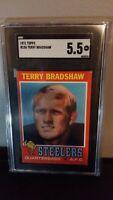 1971 Terry Bradshaw RC SGC 5.5 - Hall Of Famer