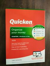 Quicken Starter 2019 BRAND NEW IN BOX (Sealed) Windows & Mac
