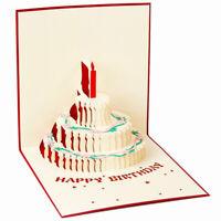 3D Up-Grußkarte Handgemachte Alles Gute zum Geburtstag Valentinstag Y3E5 Y7E2