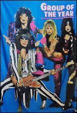 Motley Crue Vintage 80's Group Of The Year Large Tapestry Made In Italy 54 x 38
