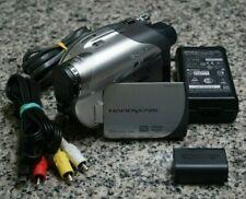 Vtg Sony Dcr-Dvd105 480p Dvd Handycam Camcorder Bundle 20x W/ Extras Tested Frsh
