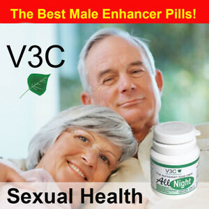 MALE ENHANCEMENT PILLS HARD SIZE ERECTILE All Night V3C Nutrition US 10 caps