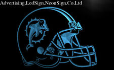Miami Dolphins Helmet Led Neon Sign Bar Beer Pub Club 3D Signs