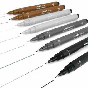Uni Ball PIN Fine Line Water-proof & Fade-proof Drawing Pens