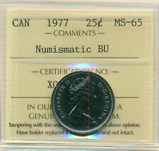 1977 Canada 25 Cent NBU ICCS MS-65, Very Affordable for New Hobbyist