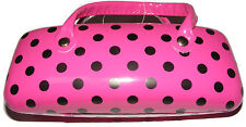 PINK POLKA DOT HARD GLASSES / SPECTACLE PROTECTIVE CASE - NEW