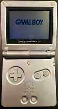 Nintendo Game Boy Advance SP Launch Edition Silver Handheld System, TESTED