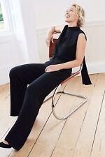 Next Emma Willis size 18 Petite Black Halter high neck  Co Ord top Blouse New