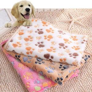 Winter Dog  Paw Pattern Soft Warm Pet Cushion Bed Pad Mat Carpet Blanket