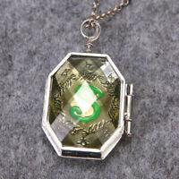 Harry Potter Slytherin Necklace Horcrux Locket Hogwarts Memorabilia Charm