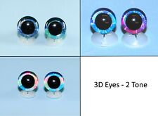 More details for 3d eyes - 2 tone with plastic backs teddy bear soft toy doll animal glitter eyes