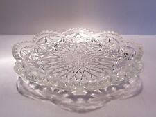 Vintage Avon Pressed Glass Ring Dish with Scalloped Sawtooth Edge